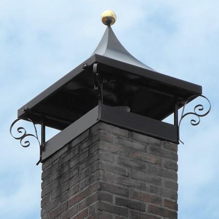 klassieke landelijke schoorsteenkappen